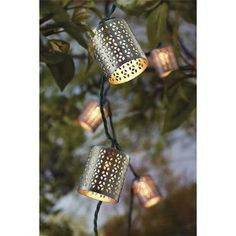 Threshold™ String Lights - Cylinder with Diecut . Use these on the back porch.