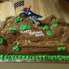 Dirt Bike Cake!! Can be made for 4-wheelers, motorcycles, you name it! ashivy25@gmail.com