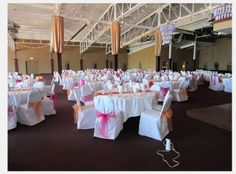 234 White Polyester Rounded Banquet Chair Covers, 31% off | Recycled Bride