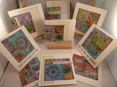 Patchwork greetings cards http://art-and-sole.blogspot.co.uk/