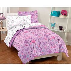 Stars and Crowns 7-piece Full-size Bed in a Bag with Sheet Set