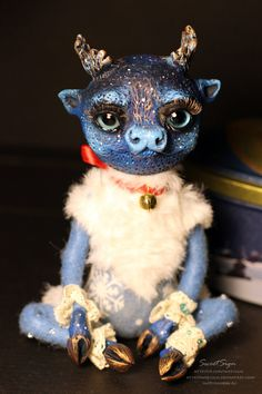 You MUST have a look at this shop! What amazingly imaginative and original creations. Take a few minutes to look. You might just find the perfect gift! -- Cariboo OOAK posable doll gift spirit fantasy by SweetSign on Etsy