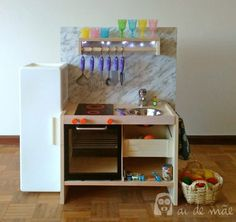 DIY children kitchen with step by step photos (soon in english too) using a RAST IKEA bedside cabinet