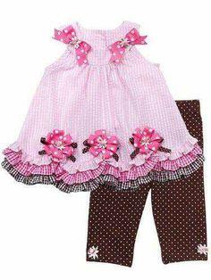 w/o the ribbon flowers Toddler Dress, Toddler Outfits, Kids Outfits, Little Girl Outfits, Little Girl Dresses, Toddler Fashion, Kids Fashion, Baby Dress Design, Girl Dress Patterns