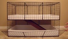 Custom 2 Level Guinea Pig Small Animal Rabbit Cage | eBay