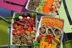dubble bento Restaurant, Bento, Cobb Salad, Lunch, Fresh, Healthy, Ethnic Recipes, Food, Gourmet