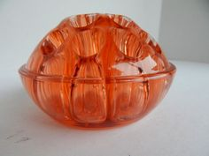 HEISEY GLASS MUSHROOM TOP FLORAL BLOCKS/ FLOWER FROG FLAMINGO PINK  1923-39.