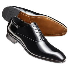 Black patent shoes | Men's business shoes from Charles Tyrwhitt, Jermyn Street, London