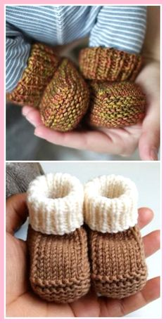 Knitted Baby Booties Free Patterns Cutest Ideas EverYou can find Baby booties and more on our website.Knitted Baby Booties Free Patterns Cutest Ideas Ever Baby Booties Knitting Pattern, Knit Baby Shoes, Knitted Baby Clothes, Crochet Baby Booties, Baby Bootees, Knitted Baby Socks, Knitting Patterns Baby, Knit Crochet, Baby Bootie Pattern
