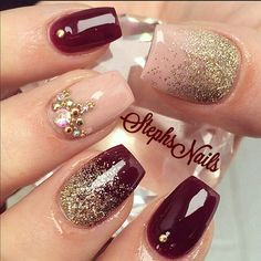 Nail fashion, nail art, cool nails, womens fashion, hair and beauty, glitter nails.