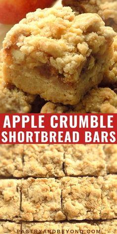 Cinnamon Roll Apple Pie, Apple Pie Bars, Apple Bread, Recipe For Apple Crumble Pie, Apple Kuchen Recipe, Apple Recipes Easy, Apple Dessert Recipes, Cinnamon Recipes, Easy Apple Desserts