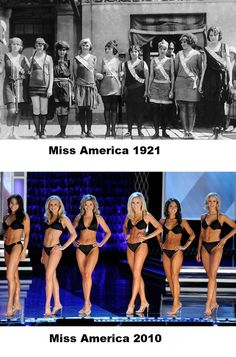Miss America Then and Now