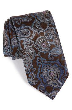 Men's Ermenegildo Zegna Paisley Silk Tie Tie And Pocket Square, Pocket Squares, Modern Mens Fashion, Men's Fashion, Luxury Ties, Designer Ties, Elegant Man, Paisley Dress, Gentleman Style