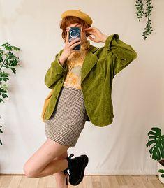 Estilo Retro, Estilo Cool, 70s Outfits, Cute Casual Outfits, Vintage Outfits, Fashion Outfits, Artsy Outfits, Look Fashion, Retro Fashion