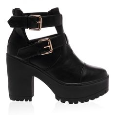 Piper Black Ankle Boots from Public Desire UK!