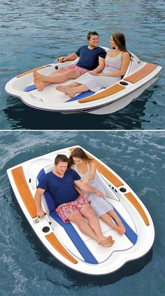 The Electric Motorboat - This is the electric watercraft that provides effortless waterborne excursions for two people for up to six hours. The watercraft's 12-volt electric motor drives its two-bladed propeller, providing leisurely 4-mph cruises over calm lakes or ponds, ideal for accessing secret swimming holes, fishing spots, or visiting neighboring docks.