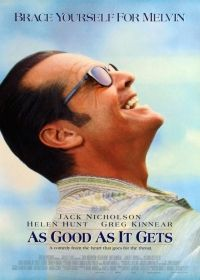 As Good as It Gets is a 1997 American romantic comedy film directed by James L. Brooks and produced by Laura Ziskin. It stars Jack Nicholson , Helen Hunt and Greg Kinnear Greg Kinnear, Helen Hunt, Jack Nicholson, Love Movie, Movie Tv, Movie Titles, Perfect Movie, Movie Quotes, Cuba Gooding