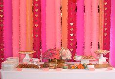 Ombre Bridal Shower by Vellum & Vogue Love the backdrop idea!
