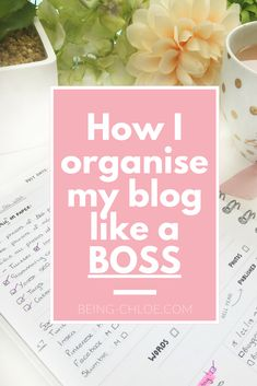Blogging for beginners. How I plan my blog and social media using the dotcreates planner.