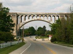 Big Four Bridge Historic Railroad Arch Rail Bridge in Sidney Shelby County Ohio