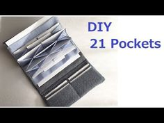 DIY ジャバラカードケース 長財布 作り方 accordion Wallet purse - YouTube Sew Wallet, Coin Purse Wallet, Fabric Crafts, Sewing Crafts, Sewing Projects, Wallet Tutorial, Handmade Bags, Sewing Patterns, Purses