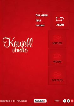 Kewell Studio Facebook Flash CMS Templates by Hugo