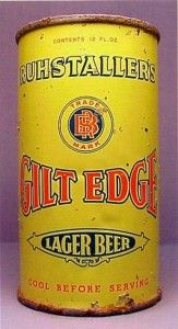 Ruhstaller's Gilt Edge Lager , Sacramento - ( very scarce ) Beer History, Beer Can Collection, Old Beer Cans, Beer Art, Beers Of The World, Lager Beer, Beer Brands, Beer Signs, Liquor Store
