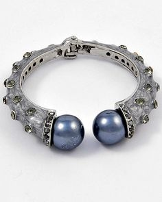 Blue Without You Statement Bracelet - Strike Envy, $38 See more at StrikeEnvy.com, #statementjewelry #jewelry #baroque