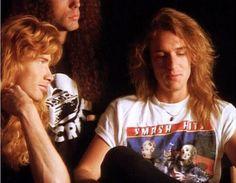 Resultado de imagen para dave mustaine and david ellefson Dave Mustaine, Leidi Gaga, Nick Menza, Fanfiction, David Ellefson, Dimebag Darrell, Glam Metal, Thrash Metal, Iron Maiden