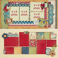 love the bottom layout...great way to use scraps of DSP!