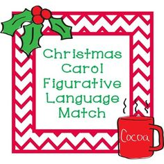 Christmas Figurative Language Label Metaphor Simile