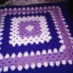 Baby granny square blanket