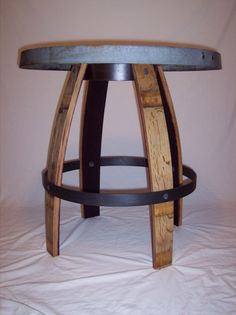 Wine Barrel Stave Furniture, Bistro Table, stave stool, table, swivel stool, end table, bar height table, bistro table, barrel head clock,  bar height stool