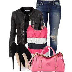 A fashion look from April 2014 featuring Doublju jackets, Mavi jeans and Giuseppe Zanotti pumps. Browse and shop related looks.
