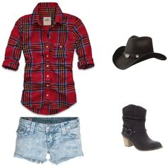 Cowboy Clothes for the Cabin, created by #tea-treats-n-sweets on #polyvore. #fashion #style Hollister Co. True Religion