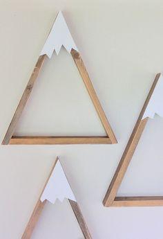 SET OF 3 Woodland Nursery Mountain Shelf Room Decor di DreamState