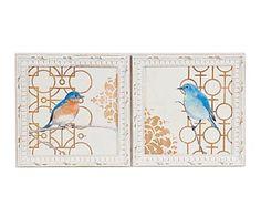 Tapa contadores en madera y papel Pájaros