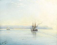 Steamer Returning Home, oil on panel. c.1887