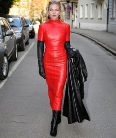 Beautiful fetish pics — sexy-in-leather: Heike. Fetish lady....