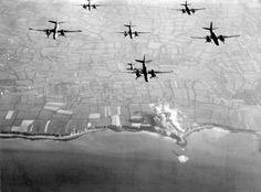 Preinvasion bombing of Pointe du Hoc