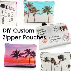 Trash To Couture: DIY Custom Zipper Pouch.