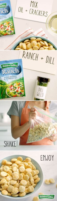 These zesty Ranch Oyster Crackers, seasoned with the perfect blend of herbs and spices, are so versatile. We love them as a topping for soup or salad, as a quick addition to a party platter or potluck, or an on-the-go snack. Whats more? Theyre so easy t
