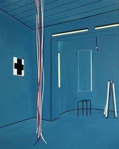 Farah Atassi, Bathroom II, 2010 Glycéro et huile sur toile — 200 × 160 cm Courtesy Galerie Xippas