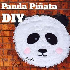 I made my own Panda Pinata for Marley's BIrthday Party. I allowed myself two weeks to make it, and I worked on it a little bit everyday and finished it after a week and a half. Panda Party, Panda Birthday Party, Bear Party, Bear Birthday, Animal Birthday, Birthday Diy, Birthday Party Decorations, Birthday Parties, Party Emoji