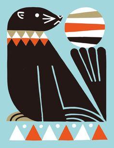 Animals 04 on Behance Animal Graphic, Graphic Art, Graphic Design, Small Island Developing States, Circus Illustration, Naive Art, Geometric Art, Animal Design, Cool Drawings