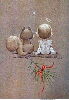 Симпатичные иллюстрации с ангелочками<br>В прикрепленном архиве все картинки (10 шт.)<br>#картинки@scrapidea<br>#новогодний_скрапбукинг@scrapidea
