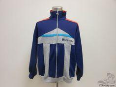 Vtg 80s 90s Spalding Full Zip Sweatshirt Jacket Infrared sz L Large Blue Grey #Spalding #SweatshirtCrew
