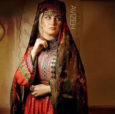 Afghan dress - chermadozi (silver floss embroidery)