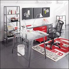 Steven's office, minus the red