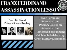 World War I Literacy Assignment Franz Ferdinand World History with pictographThis product is also included in a bundle that has all of my best-selling WWI LESSONS  for a savings of over 25%If you are looking for a full semester try my  SECOND SEMESTER OF WORLD HISTORY This is a great ONE day assignment that checks all the boxes.